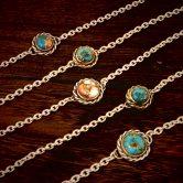 turquoise ブレスレット S 、M