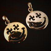 ニコちゃん 卍 coin necklace top