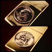 SILVER BLAZE original coin zippo