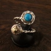 twist turquoise free ring